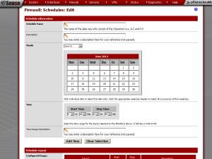 pfSense scheduler
