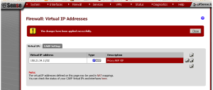 pfSense Virtual IP Addresses