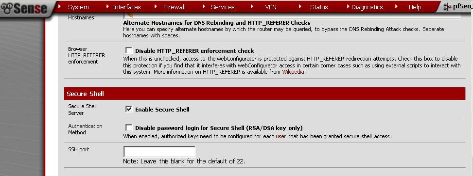 SSH Server Configuration in pfSense - pfSense Setup HQ