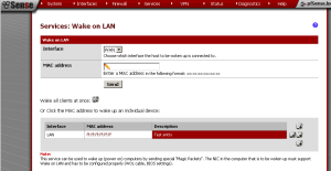 pfSense Wake-on-LAN