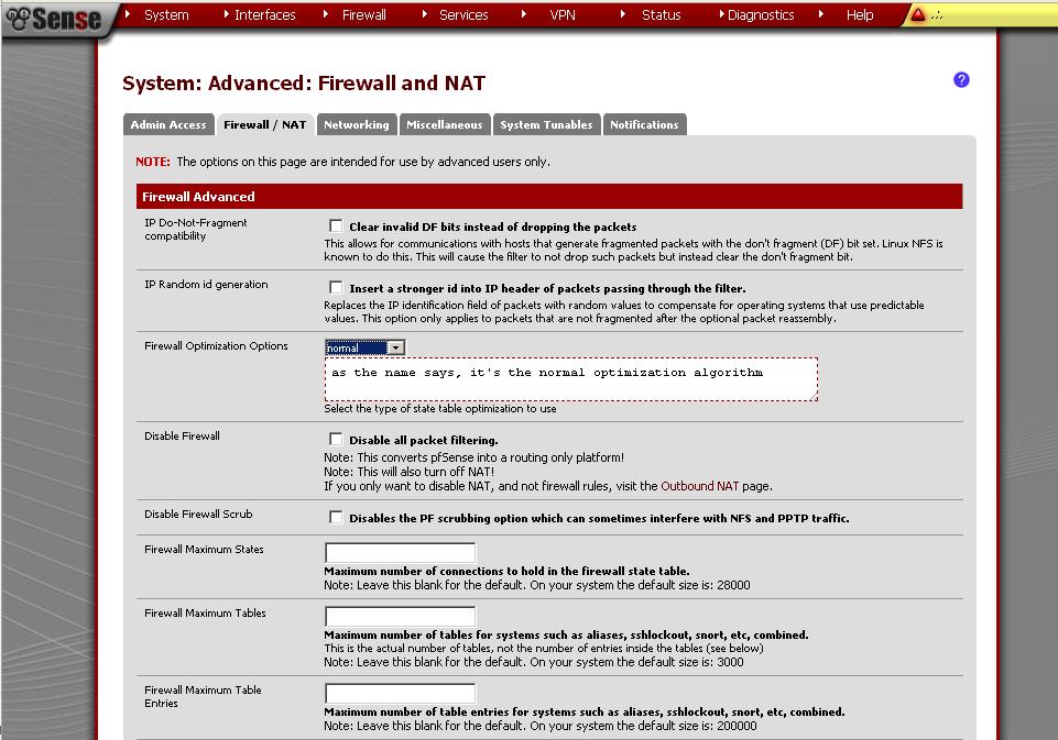 Firewall Advanced Options in pfSense - pfSense Setup HQ