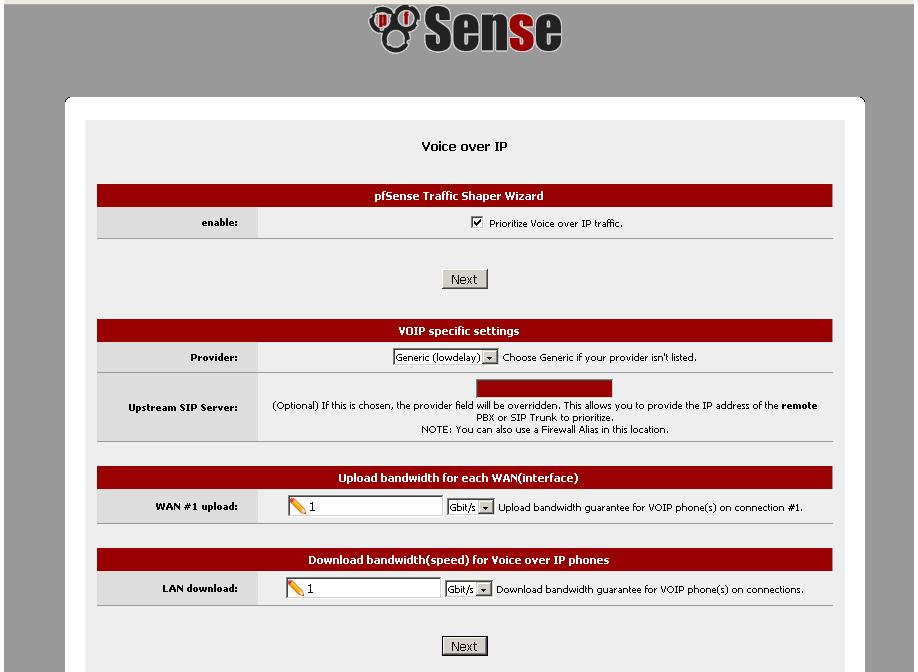 QoS Management Using the Traffic Shaper Wizard - pfSense
