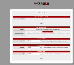 Traffic shaping in pfSense